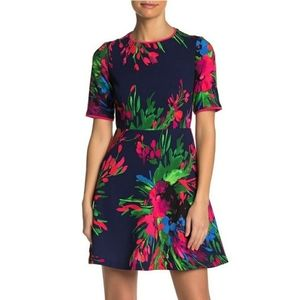 Vince Camuto Floral Fit & Flare Mini Dress